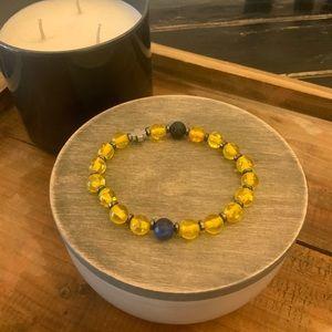 Jewelry - Lava and gemstone bracelets,